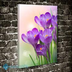 Mor Çiçekler Tablo #çiçekli_kanvas_tablo