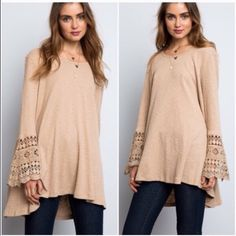 Last one ❗️Bell sleeve sweaters Last 2 are in large. Price is firm unless bundled. Large (10/12). Sweaters