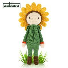 Crochet pattern amigurumi doll Sunflower Sam PDF by Zabbez on Etsy