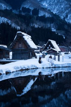 Snow in Shirakawa-go, Gifu, Japan