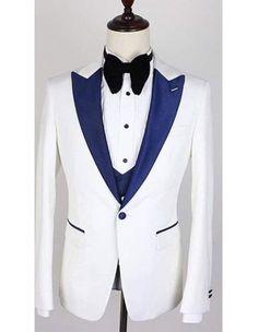Shop one button single breasted white peak lapel suit  #AlbertoNardoniSuit #OneButtonSuit #SingleBreastedSuit #WhiteSuit #PeakLapelSuit #MensSuit #SuitCollection #AlbertoNardoniCollection #WeddingWare #PartyWare #ShopNow #Mensitaly