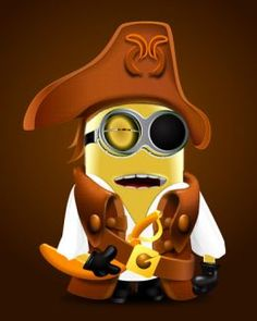 Great way to combine minions with a pirate theme!