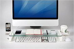iMac Accessories Desk Organizer - look at the drink holder!