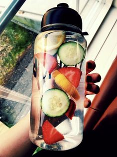 Detox Drinks, Healthy Drinks, Healthy Snacks, Healthy Recipes, Healthy Water, Breakfast Healthy, Nutrition Drinks, Healthy Detox, Dinner Healthy
