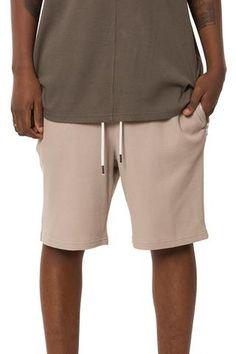 Burnt Sand Thermal Zip Pocket Shorts