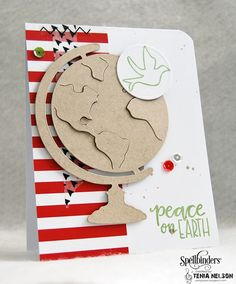 Handmade card by Tenia Nelson featuring the Beyond Measure stamp set from Verve. #vervestamps