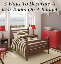 Home decorating does not have to be an expensive endeavor. And your kids dont have to take a backseat to costlier priorities in your interior design.  You can easily provide your child a bedroom thats an attractive and functional expression of their unique personality  even on a shoestring budget. 1. Reduce,