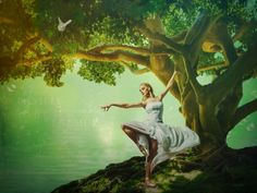 """""""Dryad of the Forest"""".: By Ann Wehner Digital Artistry"""