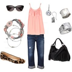 pink and leopard!, created by cady-lee on Polyvore