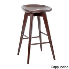 @Overstock - 29-Inch Bali Swivel Bar Stool - This swivel barstool is the perfect finishing touch for a contemporary kitchen. Its glossy finish and smooth lines ensure it will coordinate perfectly with modern decor, and because it's made from wood, it's sturdy enough to be used every day.  http://www.overstock.com/Home-Garden/29-Inch-Bali-Swivel-Bar-Stool/8187918/product.html?CID=214117 $119.98