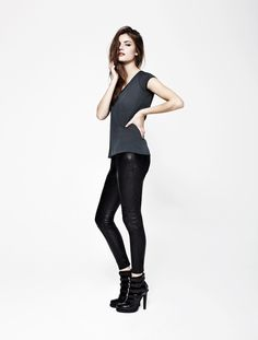 I want everything in this store: everything is black... and leather Womens Lookbook | AllSaints