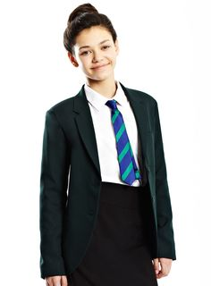 Senior Girls Dark Green Twill Blazer