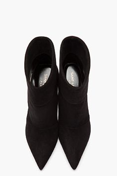 Saint Laurent Paris black suede ankle boots _