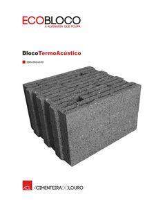 BlocoTermoAcústico  #acl #aclouro #acimenteiradolouro #betao #bloco #concrete #construcao #construction #design #arquitectura #architecture #architektur