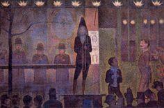 Seurat. La parada.  Óleo sobre lienzo. 100.1 x 150.2 cm.  Localización: Metropolitan Museum of Art. Nueva York