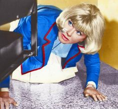 Doris Day hides from Rod Taylor in The Glass Bottom Boat. This movie is very funny, and you cant expect anything other than class from the beautiful Ms. Day.