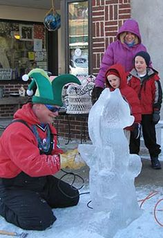 """Sturgeon Bay Visitor Center hosts the annual weekend, February 14 – 16. Saturday will be filled with cool activities featuring a city-wide ice carving competition with professional carvers transforming large and small snow blocks into masterpieces and on Saturday night, Sturgeon Bay Visitor Center and Stone Harbor Resort host the annual """"Fire & Ice"""" Dinner/Dance and Silent Auction.  A great winter weekend!  - See more at…"""