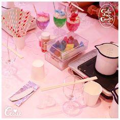 リボンクリームソーダキャンドルを作ろうのワークショップお昼の部はじまりました(n)η #cerisestore #candle #workshop