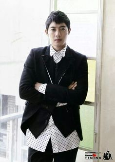 Kim Hyun Joong .  I'm bummed to hear he's having personal problems that involve violence.  Use your words and your inside voice, sweetie......