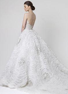 White w/ Silver Winter Wonderland Gown - Rani Zakhem Wedding Dresses 2014 Collection - ♥2 of 2♥