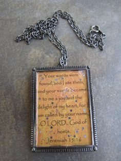 Jeremiah 1516 Necklace by RestingonHisword on Etsy, $18.00