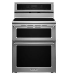 KitchenAid® 30-Inch 4 elements Induction Double Oven Convection Range