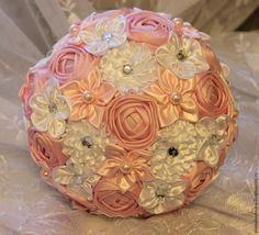 Sew a rose for a brooch-bouquet. DIY Tutorial
