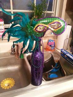 Mardi Gras wedding centerpiece I made