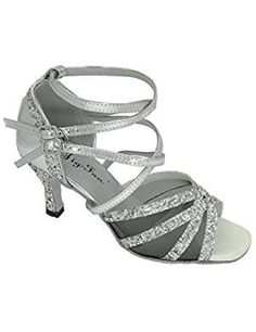 Jig Foo Sandals Open-toe Latin Salsa Tango Ballroom Dance Shoes for Women with Heel,Siler Sparkle Patent and Black B (M) US Shoes Sandals, Heels, Heeled Sandals, Women Sandals, Top Shoes, Shoes Women, Sneakers Fashion, Fashion Shoes, Ballroom Dance Shoes