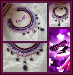 Θαλάττη: Purple Statement necklace