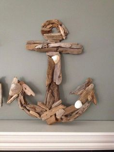 driftwood anchor, crafts, wall interior decoration, My DIY Western Shoreline souvenir