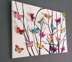 Origami art diy paper butterflies ideas for 2019 Diy Paper, Paper Art, Paper Crafting, Diy And Crafts, Crafts For Kids, Arts And Crafts, Baby Crafts, Adult Crafts, Art Papillon