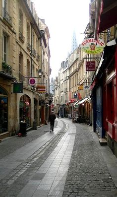 Street of Caen, Basse-Normandie, France