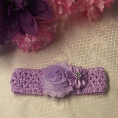 Crochet Mesh Band Baby Headbands!