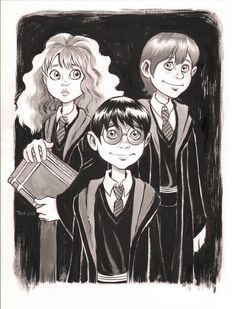 Hermione, Harry & Ron - Harry Potter - Tess Fowler