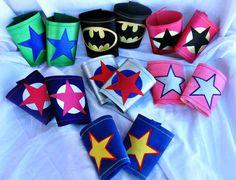 Supereroe polsi bande di braccio super eroe di SuperCuteCostumes