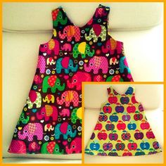 Un tuto ultra simple pour coudre 2 robes en une! A adapter à la forme et taille que vous souhaitez.