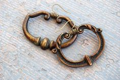 Simple Metal Earrings - Antique Hardware Collection  http://www.etsy.com/listing/27928944/simple-metal-earrings-antique-hardware