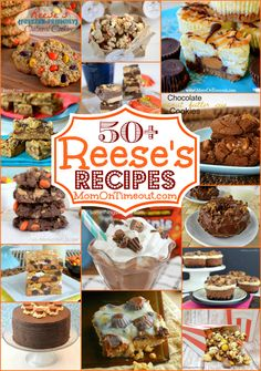 50+ Amazing Reeses Recipes | MomOnTimeout.com  Cookies, bars, popcorn, cheesecake, fudge, ice cream and more!