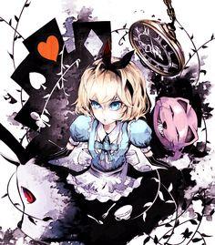 Alice in Wonderland, Touhou, Alice Margatroid, Cheshire Cat, White Rabbit