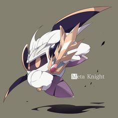 Meta Knight. Meta Knight, Knight Art, Badass Drawings, Kirby Games, Hyrule Warriors, Cutest Thing Ever, Ship Art, Super Smash Bros, Cute Art