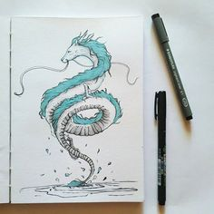 69 Likes, 4 Comments - Patricia Pedroso Spirited Away Art, Studio Ghibli Spirited Away, Spirited Away Dragon, Studio Ghibli Art, Studio Ghibli Movies, Dragon Tattoo Sketch, Chihiro Cosplay, Studio Ghibli Characters, Ghibli Tattoo