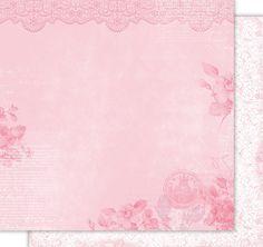 Papel de scrapbooking decorado a dos caras (12'x12') de la colección `Comunión Niña`