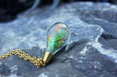 Halskette goldener Herbst von Le petit bouton auf DaWanda.com