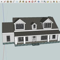 SketchUp - Free - Commonly used for modeling buildings, furniture, and trains, you'll find it easy to get started with the few simple controls.   Windows, Mac