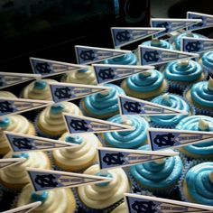 Tarheel Cupcakes for a Tarheel Birthday!