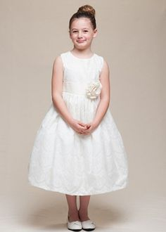 1a468062ee3 Ivory Embossed Lace Girl Dress Girls Lace Dress
