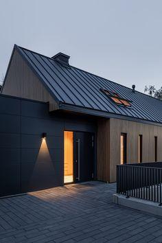 Barn House Design, Modern Barn House, Roof Design, Modern House Design, House Cladding, Exterior Cladding, Facade House, Building Design, Building A House