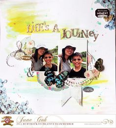 #scrapbook #layout made with #rubyrockit and the #epiphanycrafts Shape Studio Tool Oval