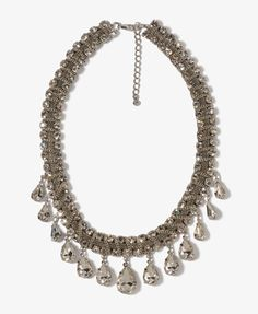 Dangling Rhinestone Chain Necklace, FOREVER 21